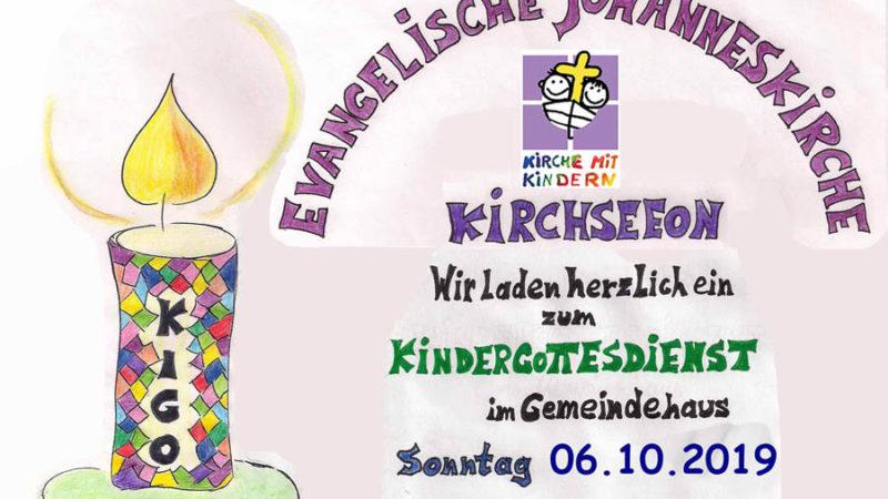 Kindergottesdienst Kirchseeon 6.10.2019